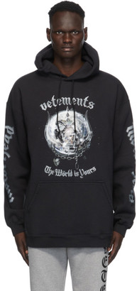 Vetements Black Motorhead Edition The World Is Yours Hoodie
