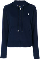 Polo Ralph Lauren classic logo zip hoodie - women - Cotton/Polyester - XS
