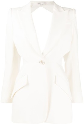 Alexander McQueen Cut-Out Detail Single-Breasted Blazer