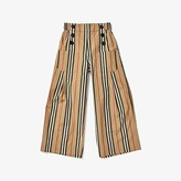 Burberry Taren Stripe Wide-Leg Pants (Little Kids/Big Kids) (Archive Beige IP S) Girl's Skirt