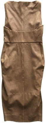 Rick Owens Camel Leather Dress for Women