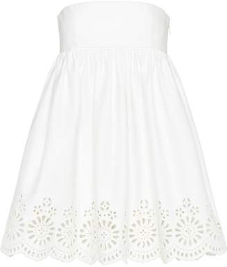 Miu Miu strapless laser-cut dress