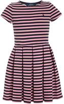 Polo Ralph Lauren STRIPE PONTE Jumper dress newport navy/nevis