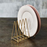 Graham and Green Gold Small Plate Rack