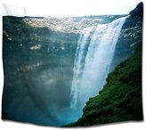 Pretty Lee Home Decor Dorm Tapestry Sea And Waterfalls Print Bedding Dorm Decor Wall Hanging Throw Home Decor for Bedroom Living Room Dorm 60x80 Inches