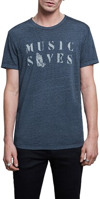 John Varvatos Music Saves Graphic Tee