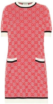 Gucci GG wool and cotton knit dress