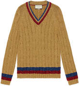 Gucci Lurex cable knit sweater
