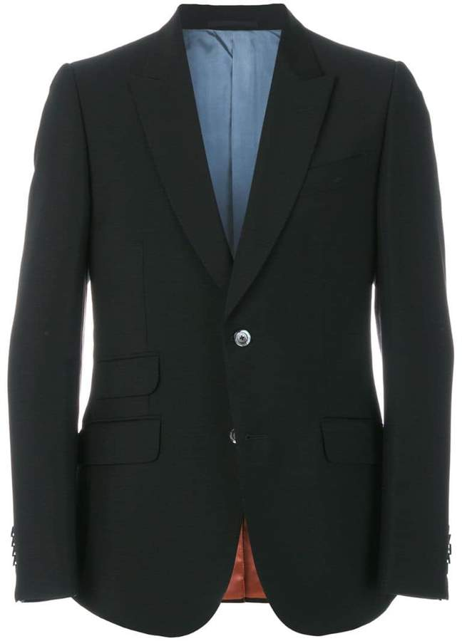 Gucci animal patch blazer