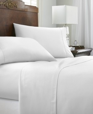 IENJOY HOME Expressed In Embossed by The Home Collection 4 Piece Bed Sheet Set, California King Bedding
