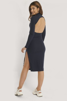 Glamorous Open Back Knit Bodycon Dress