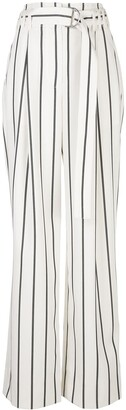 Proenza Schouler Striped Belted Trousers