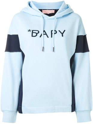 Bapy By *A Bathing Ape® Contrast-Panel Logo Hoodie
