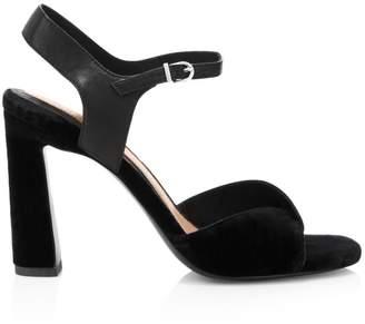 Joie Okina Velvet Ankle-Strap Sandals