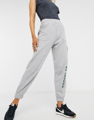 Bershka brooklyn jogger in grey