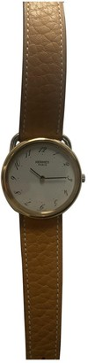 Hermes Arceau Brown Gold plated Watches