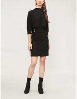 Pinko Pallone A-line wool mini dress