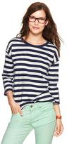 Stripe elbow-patch T