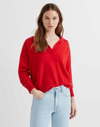 Club Monaco Polo-Collar Cashmere Sweater