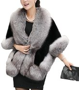 Yxjdress Women Soft Faux Fur Wrap Cape Winter Shawl for Wedding Dress