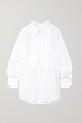 Dolce & Gabbana Oversized Pintucked Cotton-poplin Shirt - White