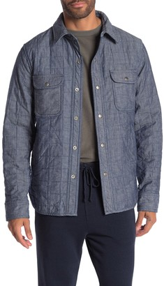 Save Khaki Quilted Chambray Shirt Jacket