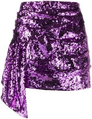 For Love & Lemons Sequin Embellished Skirt