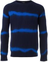 Roberto Collina blurry stripes jumper