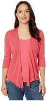 Nic+Zoe Petite Four-Way Cardigan (Geranium) Women's Clothing