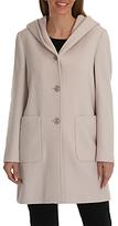 Betty Barclay Hooded Wool Coat, Powder Beige