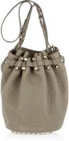Diego textured-leather bucket bag