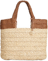 Giani Bernini Striped Straw Tote, Created for Macy's