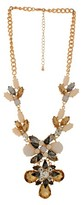 """Chain Necklace Gold with Multicolor Stones - 18"""""""