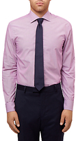 Jaeger Stripe Slim Fit Shirt, Magenta
