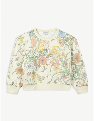 Gucci Floral-print cotton sweatshirt 4-10 years