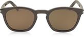 Saint Laurent SL 28 Acetate Round-Frame Unisex Sunglasses