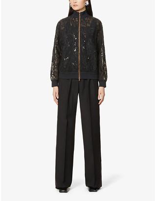 Brunello Cucinelli Sequin-embellished silk jacket