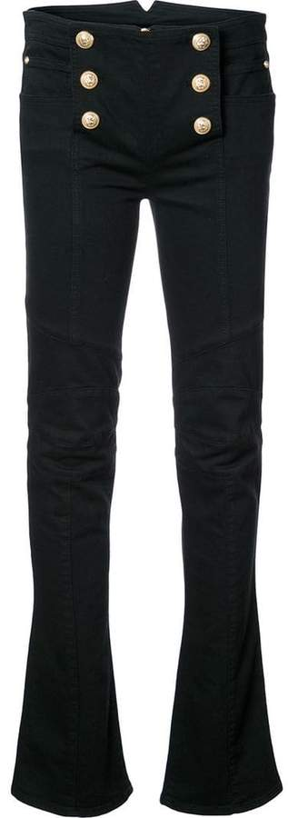Balmain button-embellished jeans