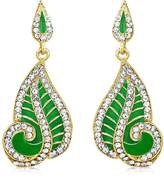 INAYA Alloy Crystal and Yellow gold Plated Earrings Set With Chaton Stone, 1 pair