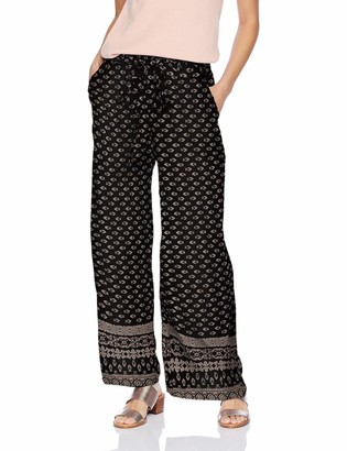 Angie Women's Printed Wide Leg Pant with Self Tie