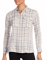 Two By Vince Camuto Plaid Utility Blouse
