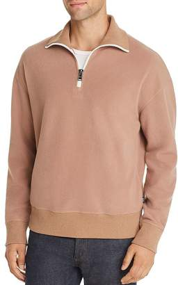BOSS Sidney Teddy Quarter Zip Sweater
