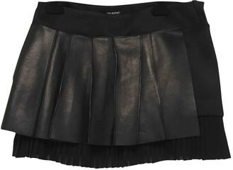 Neil Barrett Black Leather Skirt for Women