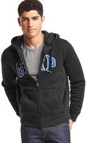 Gap Logo sherpa zip hoodie