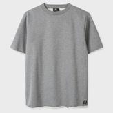 Paul Smith Men's Grey Marl Raw-Edge Short-Sleeve Sweatshirt