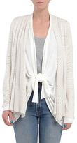 Three Dots Striped Oversized Cardigan