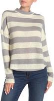 Socialite Striped Mock Neck Dolman Sleeve Sweater