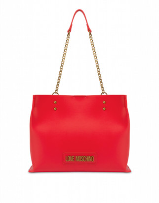 Love Moschino Shopper With Lettering Logo Woman Red Size U It - (one Size Us)
