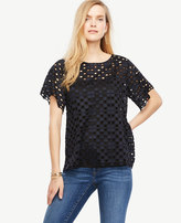 Ann Taylor Geo Lace Top