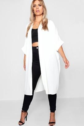 boohoo Plus Woven Longline Kimono